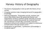 harvey history of geography