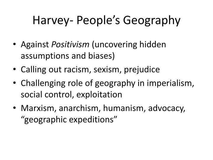 Harvey- People's Geography