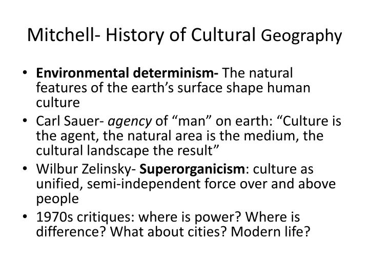 Mitchell- History of Cultural