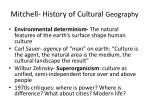 mitchell history of cultural geography