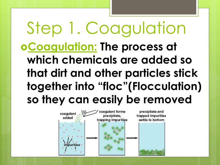 Step 1. Coagulation