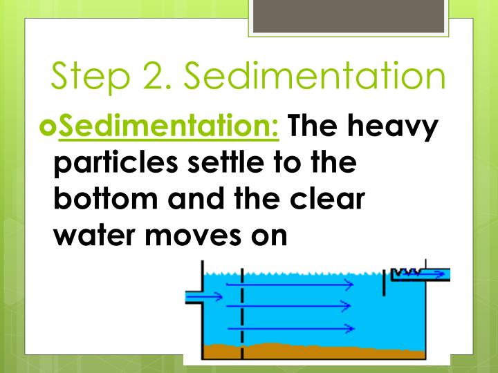 Step 2. Sedimentation