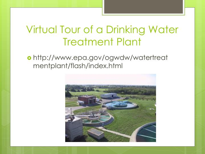 Virtual Tour of a Drinking Water Treatment Plant