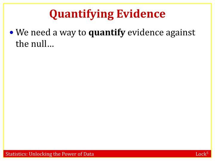 Quantifying Evidence