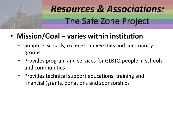 Resources & Associations: