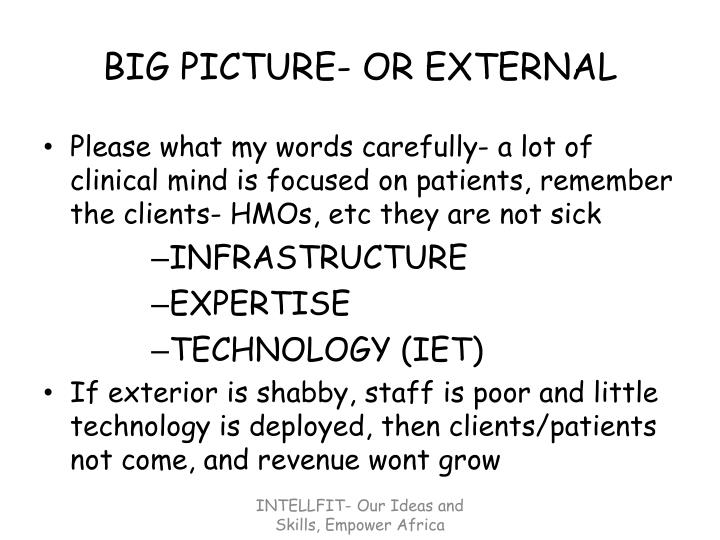 Big picture or external