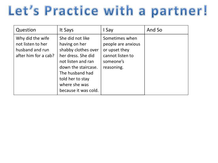 Let's Practice with a partner!
