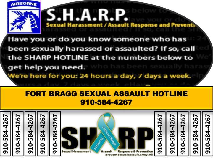 FORT BRAGG SEXUAL ASSAULT HOTLINE