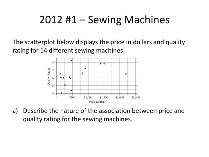 2012 1 sewing machines
