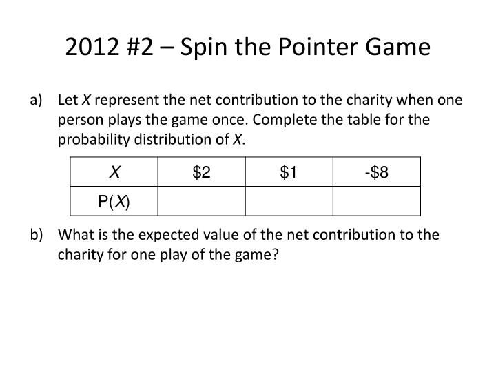 2012 #2 – Spin the Pointer Game