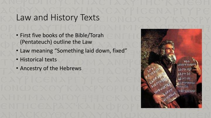 Law and History Texts