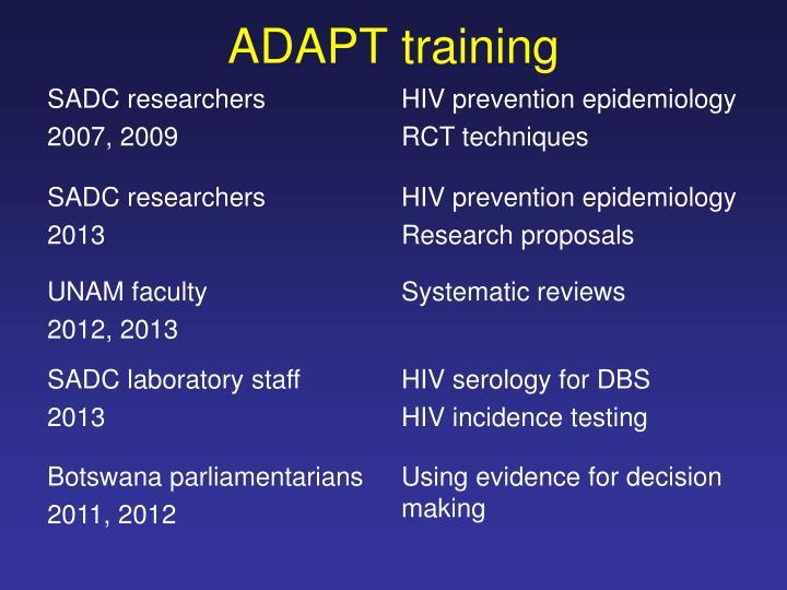 ADAPT training