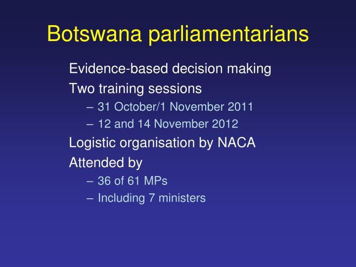 Botswana parliamentarians