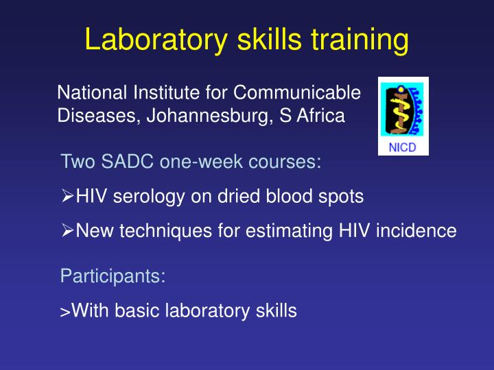 Laboratory skills training