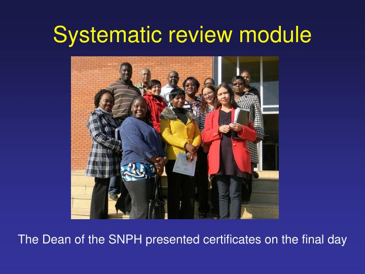 Systematic review module