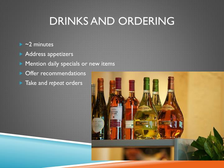 Drinks and Ordering
