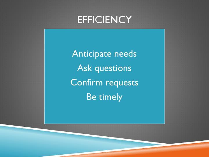 Anticipate needs