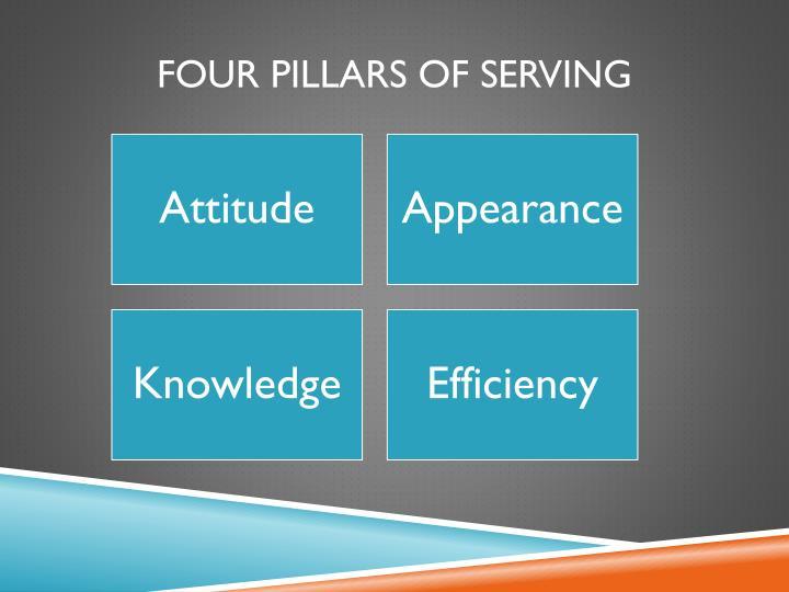 Four Pillars of Serving
