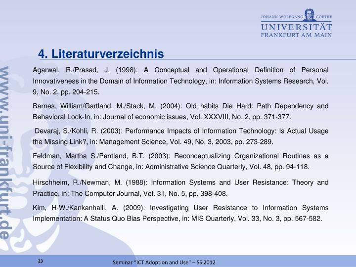 4. Literaturverzeichnis