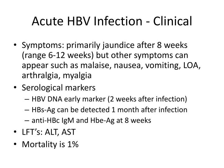 Acute HBV Infection - Clinical