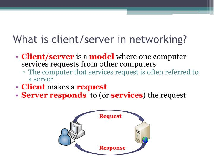 What is client/server in networking?