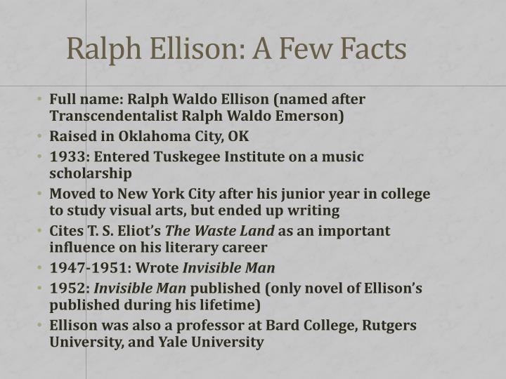 Ralph Ellison: A Few Facts