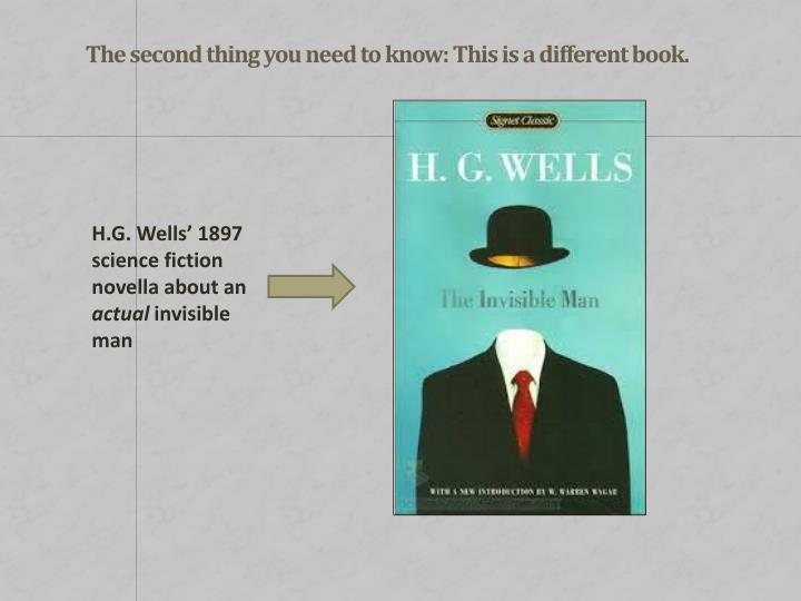 H.G. Wells' 1897 science fiction novella about an