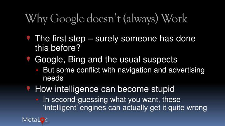 Why Google doesn't