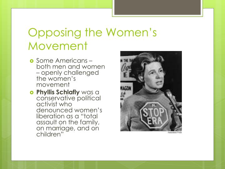 Opposing the Women's Movement
