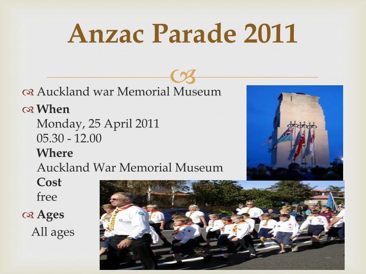 Anzac Parade 2011