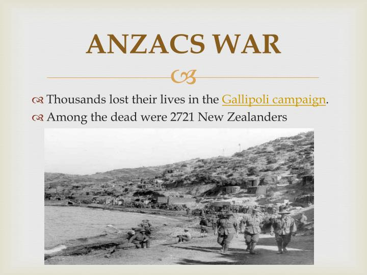 ANZACS WAR