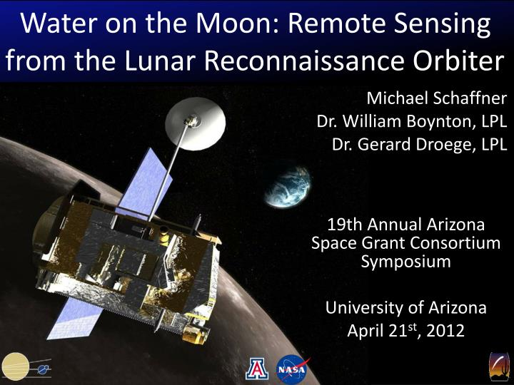 Water on the Moon: Remote Sensing from the Lunar Reconnaissance Orbiter