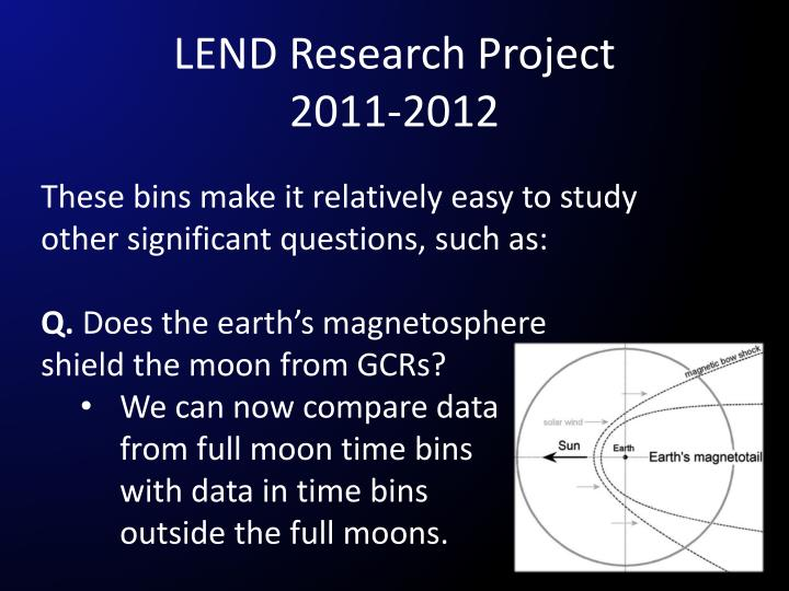LEND Research Project