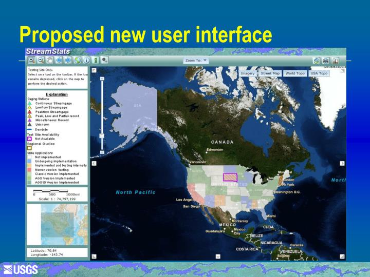 Proposed new user interface