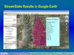 streamstats results in google earth