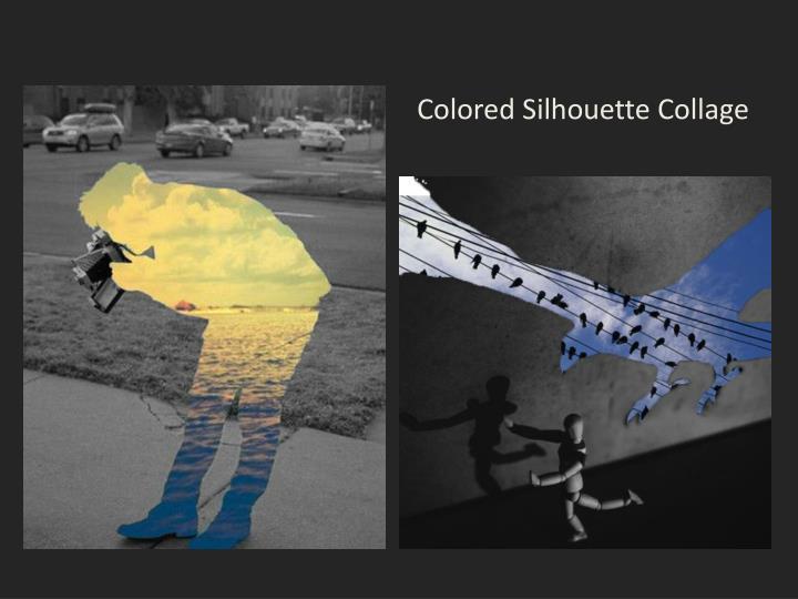 Colored Silhouette Collage