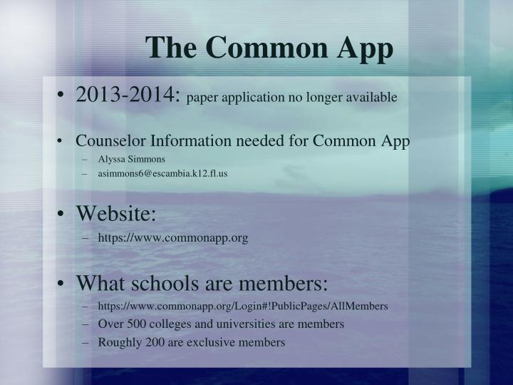 The Common App