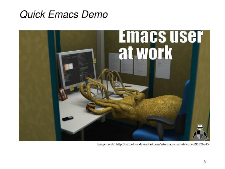 Quick emacs demo