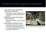 problems with projection shadows