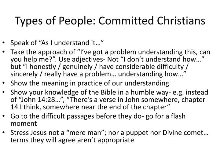 Types of People: Committed Christians