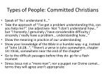types of people committed christians