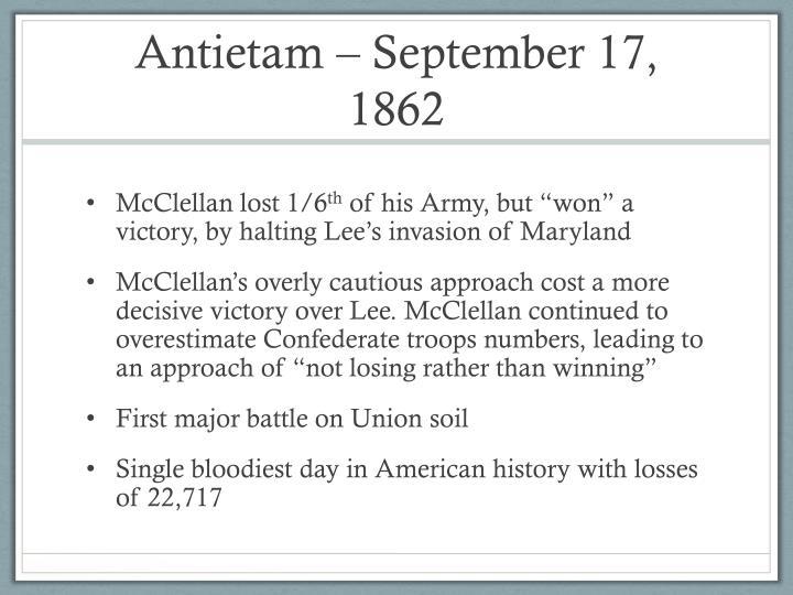 Antietam – September 17, 1862