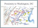 proximity to washington dc