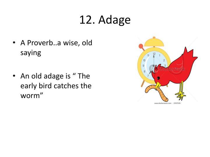 12. Adage