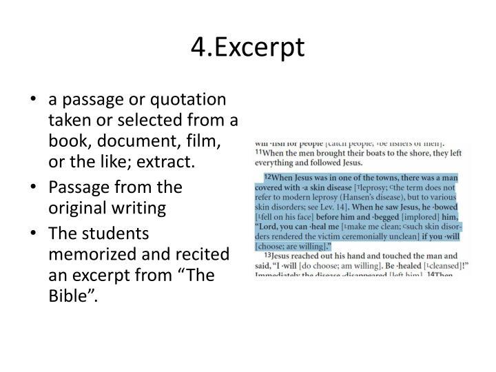 4.Excerpt