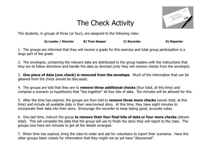 The Check Activity
