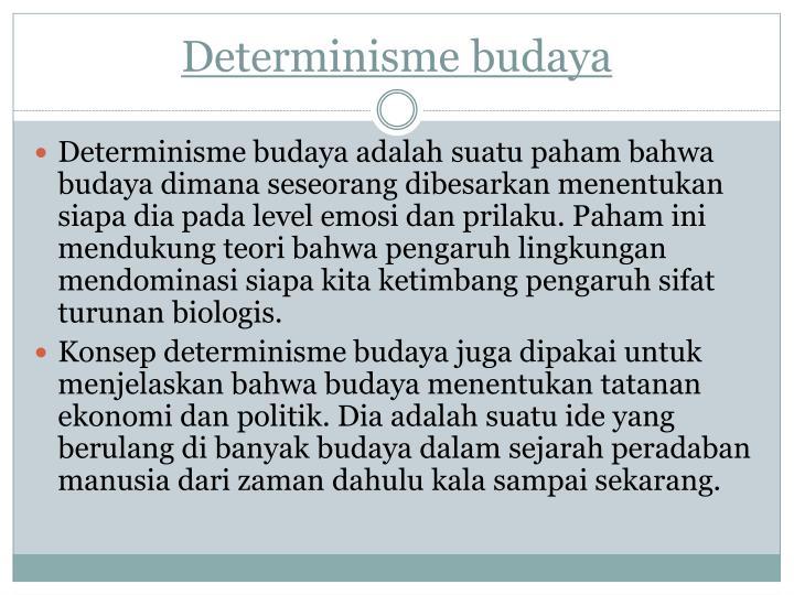Determinisme budaya