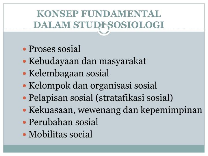 KONSEP FUNDAMENTAL