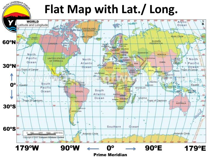 Flat Map with Lat./ Long.