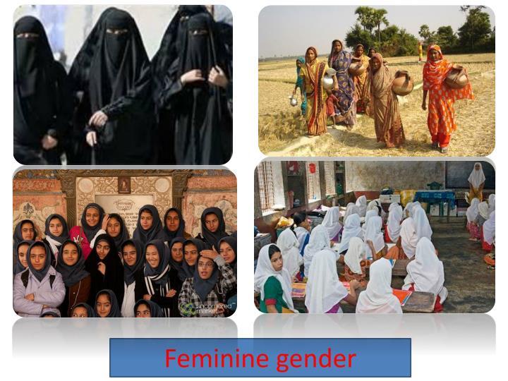Feminine gender